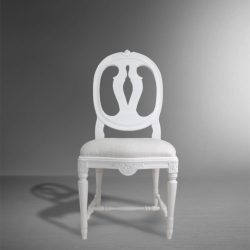 Gustavian Rose Side Chair front