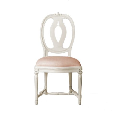 Classic Laurine Chair in soft pink fabric
