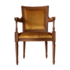 Directoire Chair mustard velvet front