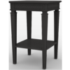 Gustavian Bedside Table in Black