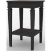 Gustavian Bedside Table in Black