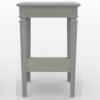 Gustavian Bedside table in soft grey