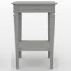 Gustavian Bedside table in soft grey