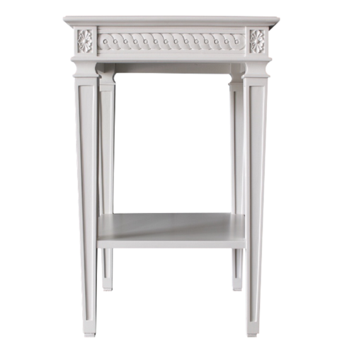 Gust Side Table Front White Back