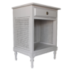Gustavian Bedside with Rattan sides Grey