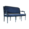 Louis XVI Sofa in Blue side view