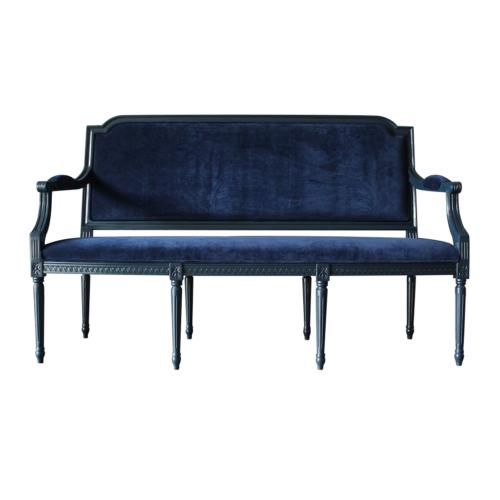Louis XVI Sofa Blue finish and Deep Blue velvet