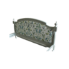 Marie Antoinette Footboard with lily stream fabric