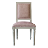 Square Back Side Chair Pink fabric