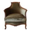 Duchess Armchair Old wood antique and moss velvet