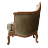 Duchess Armchair with Moss velvet finish